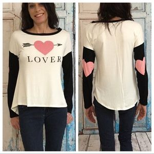 Tops - Lover Top White and Black